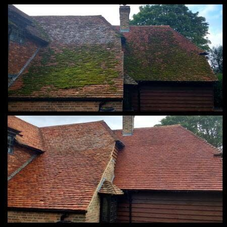 roof cleaning in Bedford