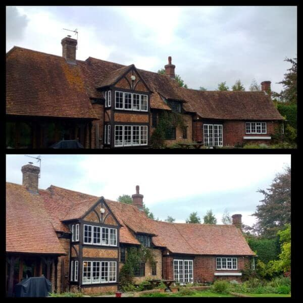 Roof cleaning in Marlow