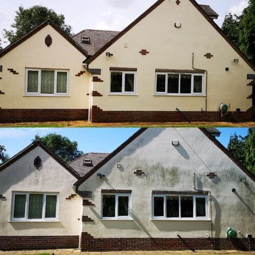 Monocouche Render cleaning in Woking