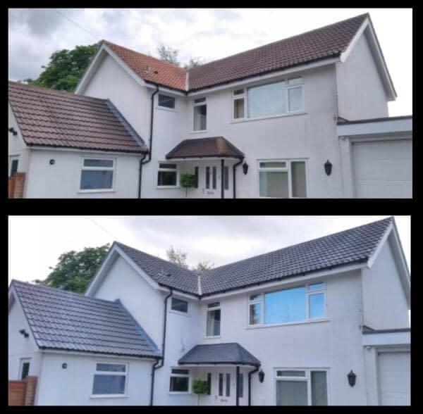 Roof painting in Wendover