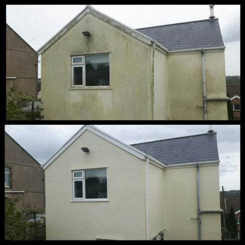 Render cleaning in Aberyswyth